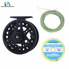 3/4/5/6/7/8WT Fly Reel Large Arbor Aluminum Fly Fishing Reel & Fly Line Combo