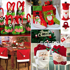 Christmas Decorations Santa Chair /Gift Bag /Wine BottlE Cover Xmas Dinner Party