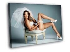 Lily Aldridge Sexy Lingerie Bride Model FRAMED CANVAS WALL PRINT