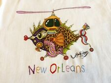 """WHIRLY FISHCOPTER"" 100% COTTON  TODDLER SHIRTS, Jamie Hayes, NEW ORLEANS ARTIST"