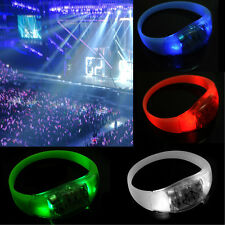 Button Activated Flashing Bracelet LED Bright Wristband  Hot 7 Colors ewq