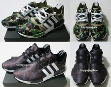 *A BATHING APE x adidas Men's NMD R1 BAPE Camo 2colors From Japan New