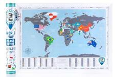 New! Scratch off World Map, Flags Edition. Awesome Scratch off World Wall Poster
