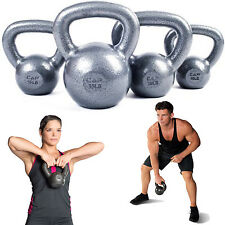CAP KETTLEBELL Home Workout Fitness Exercise ,Cast Iron 10lbs 15lbs 20lbs 25lbs