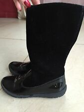 Naturino Black Leather Boots. Great Condition. Size 31, US Size 13.5