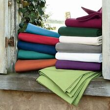 US King Size All Solid Bedding Items 1000TC 100%Egyptian Cotton Select Item