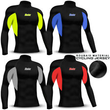 Mens Cycling Jersey Thermal Winter Cold Weather Long Sleeve Fleece Shirt