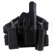 Glock Tactical Leg Holster belt right thigh Paddle Drop Gun Glock 17 19 22