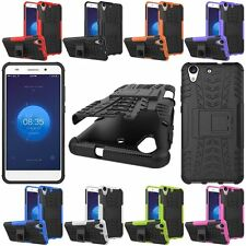 Hybrid Rugged Shockproof Armor Hard KickStand Case Cover For Huawei Ascend Y6 II