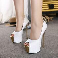 New womens sexy Nightclub super high heels pumps platform shoes high stilettos