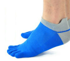 Casual Mens Trendy pure cotton Five Fingers toe sports bamboo fibre Socks HU