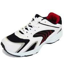 MENS LACE-UP WHITE RUNNING WALKING GYM TRAINERS SPORTS SHOES FASHION PUMPS 5-12