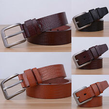 Fashion Men Casual Waistband Leather Faux Adjustable Pin Buckle Belt Waist Strap