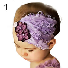 Baby Girl Infant Toddler Fashion Feather Headband Hair Band Hair Flower Refined
