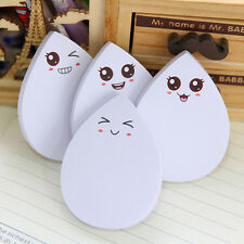 1 Sheet Water Drop Face Smily Memo Pad Office Supplies Stationery Sticky Note XV