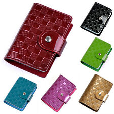 Woman Patent Leather ID Credit Card Case Holder Pocket Bag Wallet Perfect
