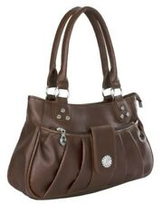 Big Handbag Shop Womens Faux Leather Medium Pleat Hobo Top Handle Shoulder Bag