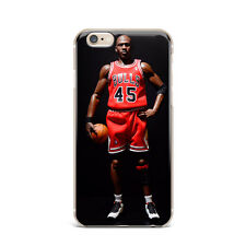 NBA Jordan Chicago Bulls TPU Rubber Silicone Clear Cover Back Case For iPhone