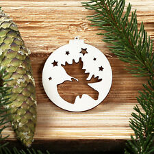 Baumkugeln with Christmas themes - Tree ornaments, Tree trunk - Deco wooden -new