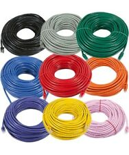 20ft to 100ft Cat5e RJ45 Patch Cable Ethernet LAN Network Router Wire Cord 24AWG