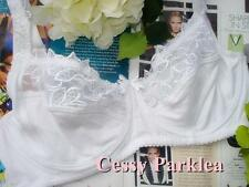 "Euro ""Bpc"" Cotton White Black Embroidery Non-Padded Stretchy Cups Wired Bras"