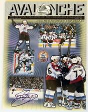 JOE SAKIC SIGNED 2001 COLORADO AVALANCHE STANELY CUP GAME 7 PROGRAM AUTOGRAPH