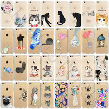 Hot Cat Animal Pattern Soft TPU Silicone Back Case Cover For iPhone 7 6s 6 Plus