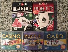 HOYLE GAMES PUZZLE & BOARD CARD BLACKJACK POKER CASINO (PC) SEALED - WIN10, 8, 7