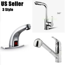 3 Style Chrome Brass Waterfall Bathroom Basin Faucet  Handle Hole Sink Mixer Tap