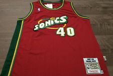 NWT Shawn Kemp SEATTLE SUPER SONICS RARE Red JERSEY