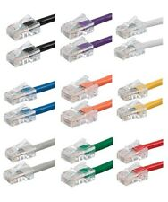Up to 50ft Cat5e RJ45 Patch Cable Cord 24AWG Ethernet Network LAN Router Wire