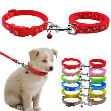 Nylon Small Dog Puppy Collar and Leash Set with Bell for Chihuahua Star Prints