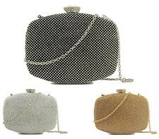 WOMENS CLUTCH BAG DIAMANTE PARTY PROM BRIDAL EVENING PURSE HANDBAG
