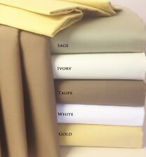 """4pc Luxury 600TC Cotton Sheet Set with 22"""" Deep Pockets - 5 COLORS - ALL SIZES"""