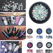 6 Colors Fashion 3D Crystals Glass Rhinestones Nail Art Decoration Accessory DIY