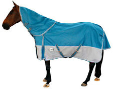 CARIBU  Rainsheet 1200D Turnout Combo Horse Rug with Detachable Neck Rug, TEAL