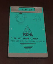 TDS 512K GX RAM Card for HP 48GX Calculator (Battery Backed)