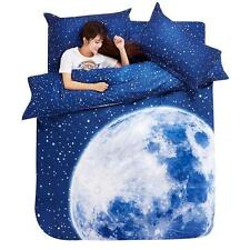 Moon Starry Single Double Queen King Bed Set Pillowcase Quilt Duvet Cover Gift