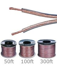50ft 100ft 300ft Speaker Wire Cable Cord Enhanced Loud Oxygen Free Copper 14AWG