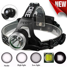 5000Lumens Zoomable CREE XML T6 LED 18650 Headlamp Head Torch Light Super Bright