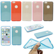 """PC Bumper Frame With Crystal Clear Soft TPU Case Cover For iPhone 6 Plus 5.5"""""""