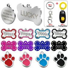 Personalized Dog Tags Custom Cat Pet ID Name Tags for Dogs FREE Engraving S M L