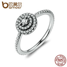 925 STERLING SILVER ROUND CZ FLOWER FINGER RINGS FOR WOMEN RING JEWELRY PA7178