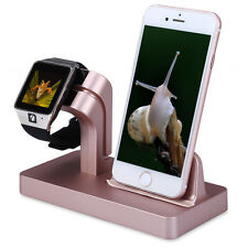 Charging Dock Station Bracket Cradle Stand Holder Charger For iPhone 6S 7 iWatch