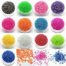 1200Pcs 2mm Colorful Glass Beads Seed Round Spacer Jewelry DIY Pearls Mini