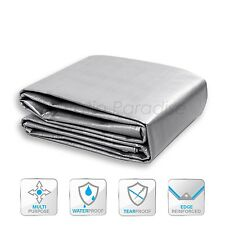 12 Mil Silver Tarp All Weather Reinforced Tarpaulin Canopy Tent Shelter Cover