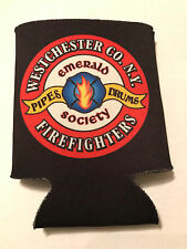 Westchester Firefighters Emerald Society Pipes Can Cooler Koozie