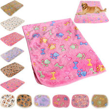 Soft Blanket Bed Cushion Pet Small Large Paw Print Cat Dog Puppy Coral cashmere