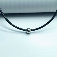 Women's Gothic Faux Leather Simple Style Round Bead Fashion Accessory Necklace