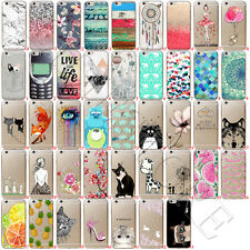 Ultra Thin Patterned Soft Silicone Back Clear Case Cover For iPhone 7 Plus 6 6s